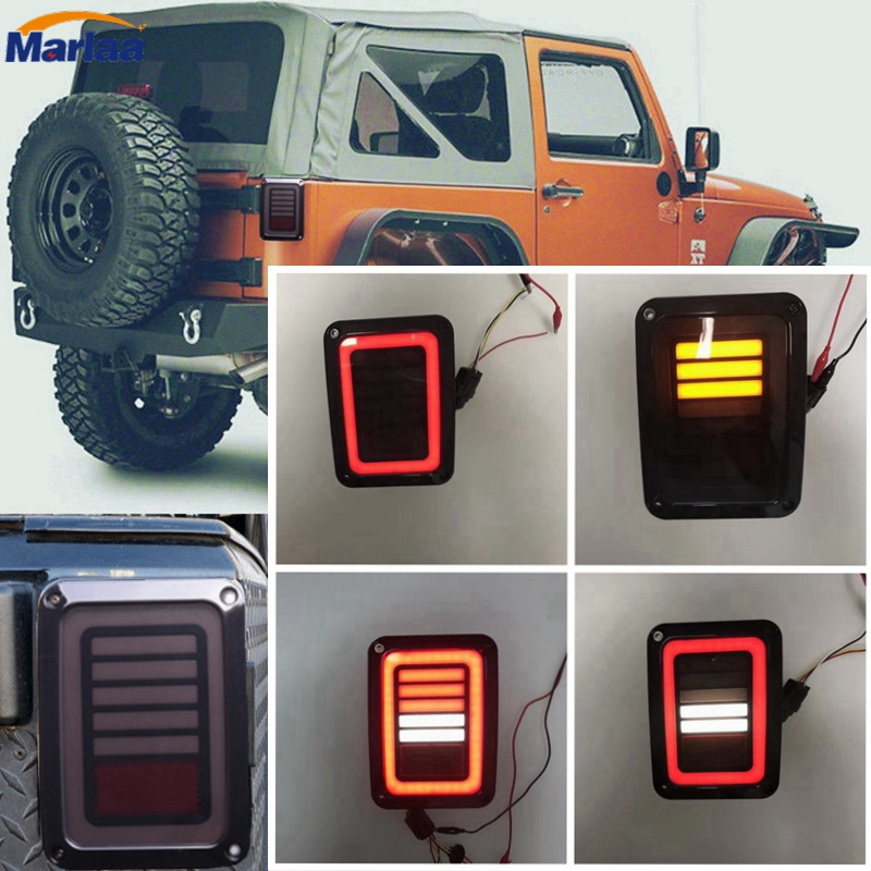 LED Rear Signal Reverse Tail Light for 07-15 Jeep Wrangler JK Taillight Brake Lamp Backup Running Light Tail Lamps high quality new generation led car rear taillights tail lamps for jeep wrangler jk play and plug