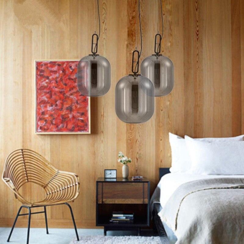 SGROW Moderne Pendentif En Verre Lumières pour Salon Salle À Manger Chambre Creative Design Lampe En Verre Cire Gourde Lampara Luminaire