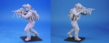 1/16 Scale 120mm Unpainted Resin Figure US Navy SEALs 2 people team  (Free Shipping)