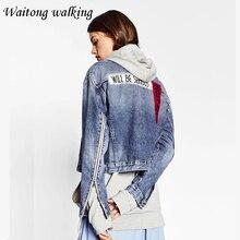 2017 Spring Woman Fashion Basic Jackets Ladies Vintage Denim Jacket Europe Style Women Jean Outerwear Coats M55 casaco feminino