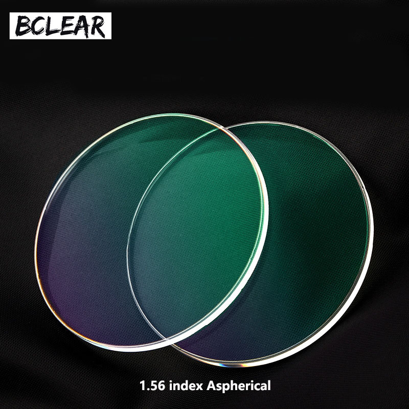 BCLEAR 1,56 Aspheric Recept Linser Hmc UV TCM Optisk Lins Diopter Myopi Reading Presbyopia Astagmatism Spectacle Briller