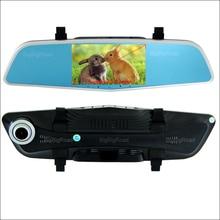 Cheaper BigBigRoad For BMW e60 e34 e39 e46 Car DVR with two Cameras Rearview mirror video recorder Dual lens 5 inch IPS Screen Black box