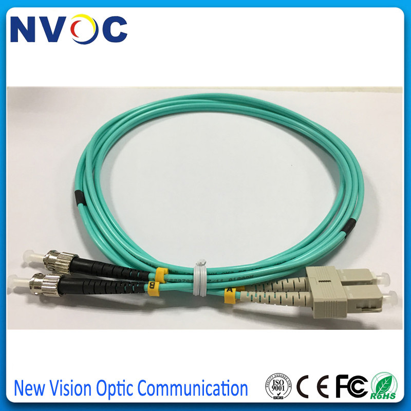Patch Cord Lot of 3 LC-LC Multi-Mode MM OM3 10G Duplex DX 1M Fiber Optic Cable