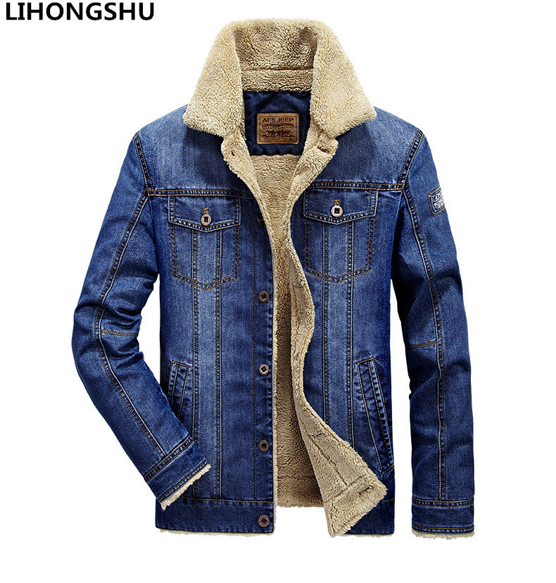 4xl 3xl Herfst Winter Mode Jeans Jassen Mannen Denim Jas