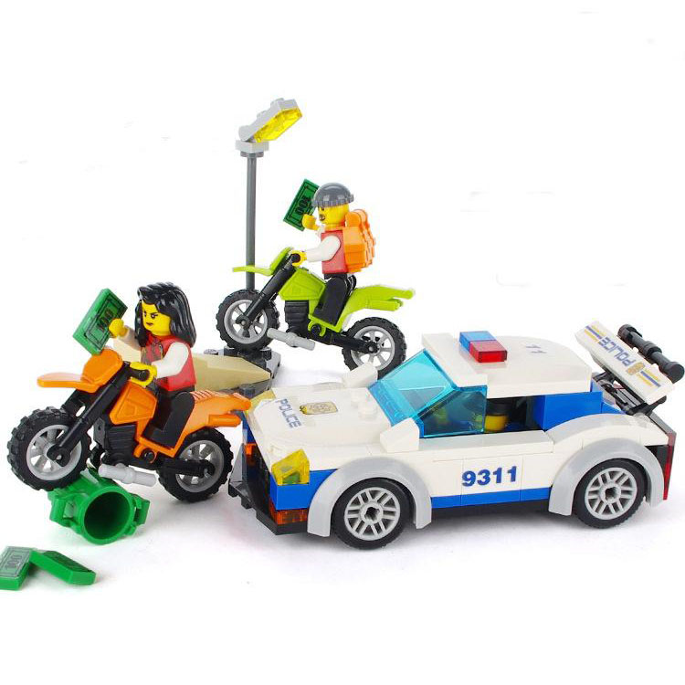 Models Building Toy 9311 City High Speed Police Chase Blocks 158pcs