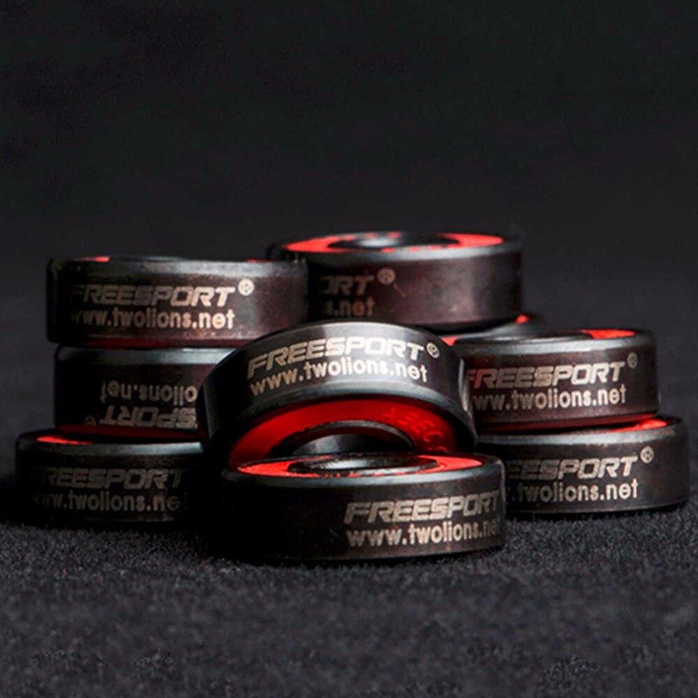 Купить с кэшбэком FreeSport 608 Hybrid Ceramic Bearing ABEC 9 inline Skate Bearings FreeLine Skate Skateboard LongBoard HandSpinner Rodamientos