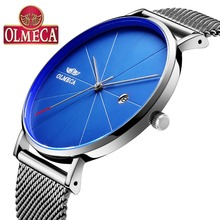 Hot Selling OLMECA Watch Fashion Business Relogio Masculino Complete Calendar Wrist 3ATM Waterproof Mens Watches Alloy