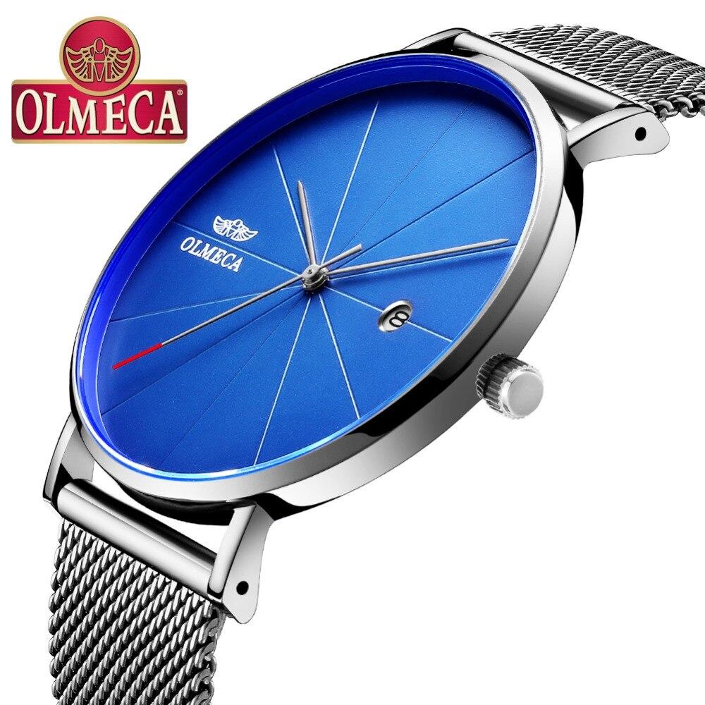Горячая продажа OLMECA часы модные бизнес Relogio Masculino Полный календарь наручные часы 3ATM водонепроницаемые мужские часы сплав|Кварцевые часы|   | АлиЭкспресс