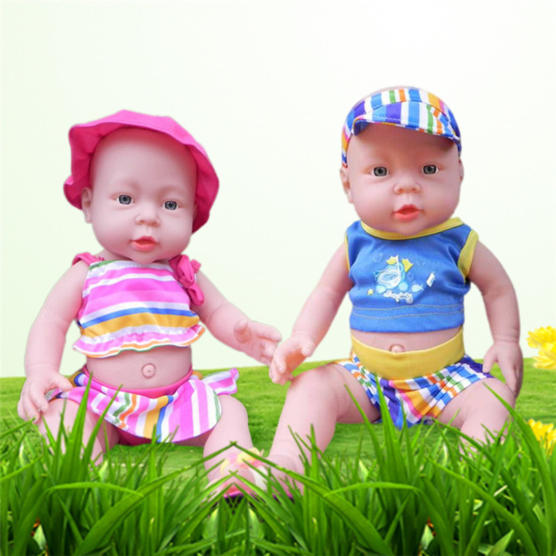 New Full Silicone Vinyl Reborn Baby Doll Realistic Girl Babies Dolls 16 Inchs Lifelike P ...