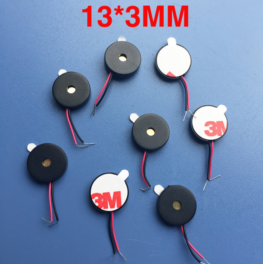 Free shipping 10PCS Hot sale 1325 13*2.5mm piezoelectric Passive buzzer with wire