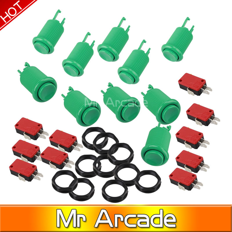 Arcade Gaming Microswitch Push Button Set of 10 PCS Free shipping ...