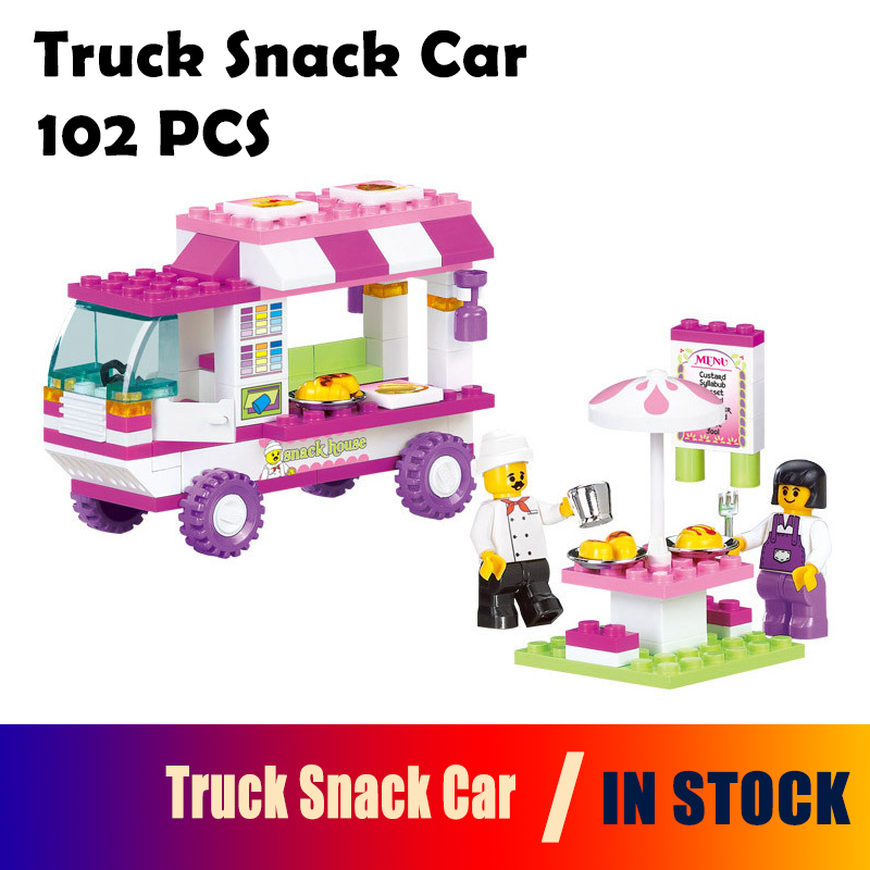 Model building kits compatible with lego city car 823 3D blocks Educational model & building toys hobbies for children