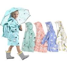 waterproof raincoat for children  baby girls boys,students rain coat kids outdoor poncho Jacket with backpack