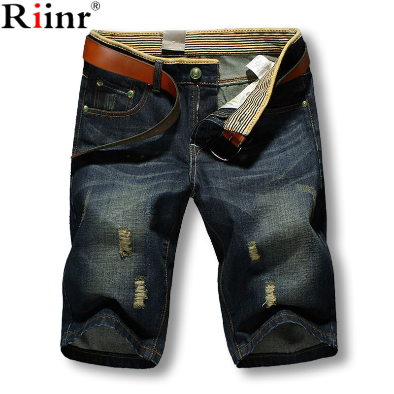 Riinr 2017 New Arrival Short Jeans Men's Fashion Shorts Men Hot Sale Summer Style High Quality Brand Men's Jeans Cotton Pants high quality 2016 summer men plus short jeans men s fashion shorts men big sale summer clothes brand homme short pants