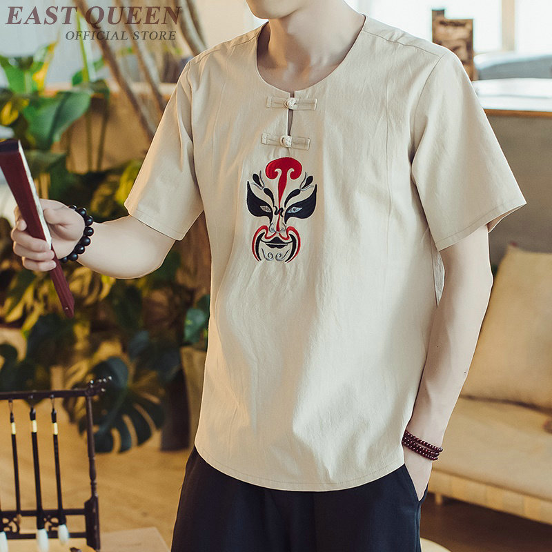 Top women summer 2018 traditional chinese clothing for men male blouse sleeve long casual shirt blouse and tops AA3879 Y A