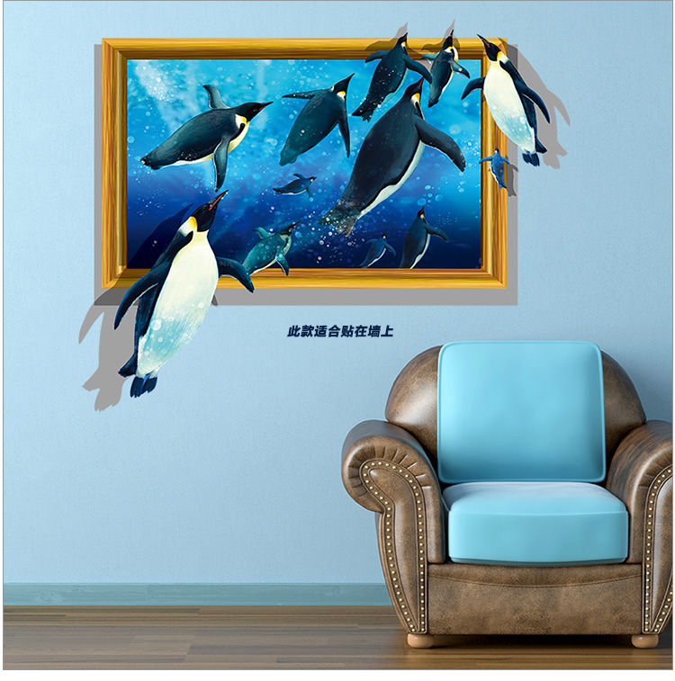creative cartoon wall stick dinosaurs 3d wall stickers hot style living room bedroom adornment of foreign bedroom furniture sticker style