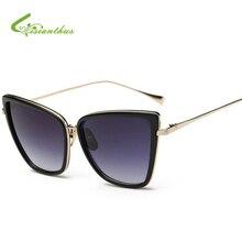Ladies Cat Eye Sunglasses Women Sun Glasses Alloy Frame UV400 Protection Brand Designer Retro Cat Eye Glasses Ultra Light Eyegla