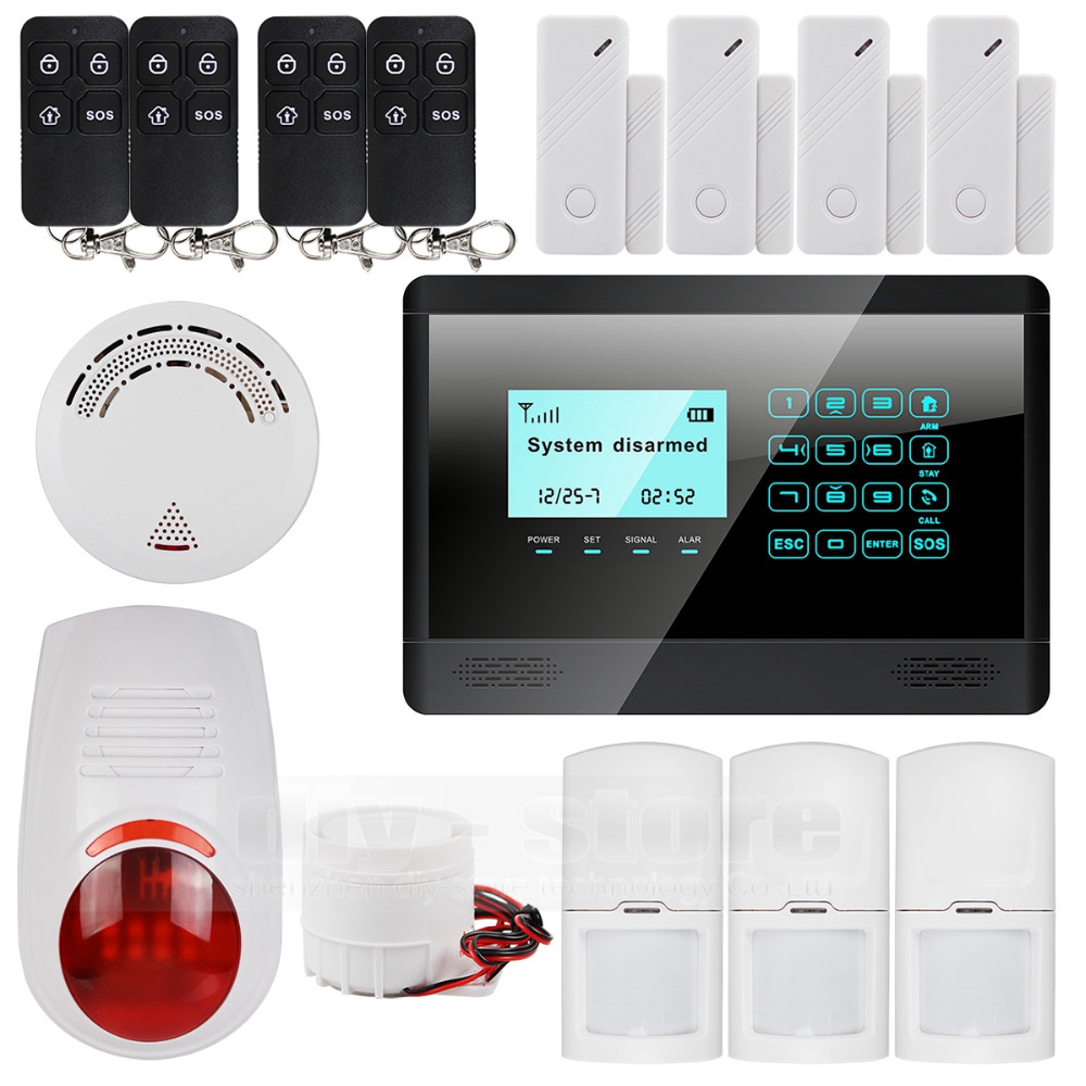 DIYSECUR Wireless GSM SMS TEXT Touch Keypad Home House Alarm System Intelligent Sensor Wireless Outdoor Flash Siren Strobe Horn 16 ports 3g sms modem bulk sms sending 3g modem pool sim5360 new module bulk sms sending device