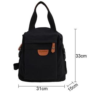 Image 4 - Cute Student Waterproof Backpack Female Women Vintage School Bag Girl ladies Nylon Backpack Long handle Book Bag Fashion Teenage