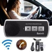 KROAK Wireless bluetooth Car Kit Handsfree Speaker Phone Sun Visor Clip Drive Talk Speakerphones for i Phone Android