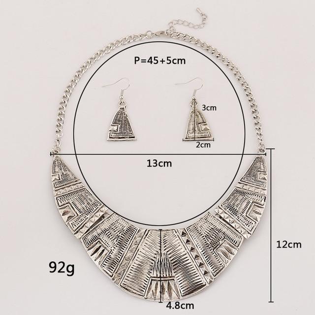 Женское Винтажное колье чокер lzhlq с геометрической резьбой