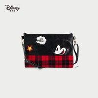 Disney аниме мультфильм Микки шотландский стиль мягкая сумка через плечо Модные модная сумка Женская Черный повседневное молнии сумки