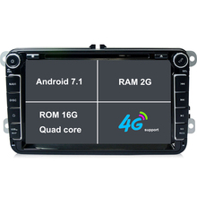 2G RAM Android 7.1 Car Radio DVD GPS Bluetooth For VW Volkswagen Passat B5 B6 Jetta Polo Jetta Touran Golf Tiguan CC headunit 4G