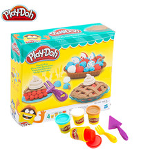 Original Play Doh Colorful Mud Fun Pie Children's Soft Clay Playa Creative DIY Toys Set Slime Clear Fluffy(China)