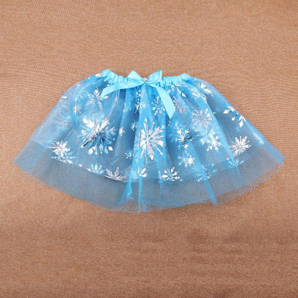 Princess Girl Skirt Kids Baby Girl Tutu Skirt Children Clothing Fever Anna Elsa Skirts Girls Cosplay Costume Fantasia Vestido In