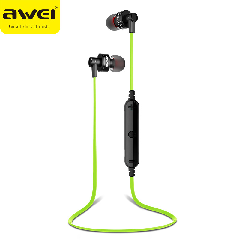 AWEI A990BL Wireless bluetooth earphone Bluetooth Headset Sport earbud handsfree with microphone for mobile phone iphone samsung m163 mini wireless bluetooth headset headphones with microphone car handsfree single ear earphone for ipone xiaomi mobile phone