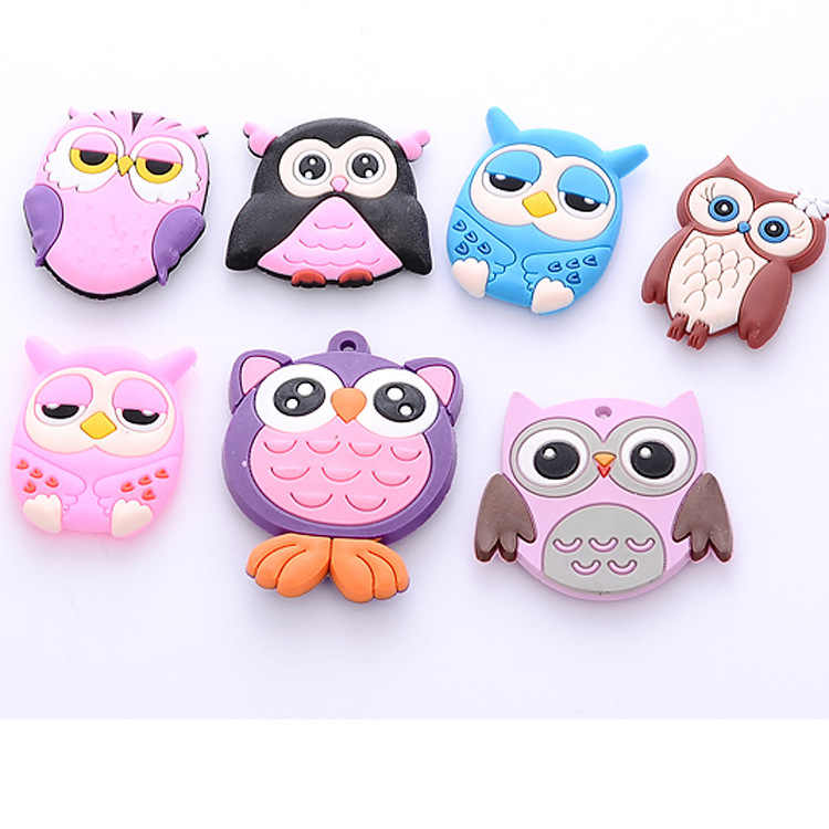 5PCS Creative Owl Fridge Magnets Silicone Gel for Kids Gift Home Decor Animal Fridge Magnets Wholesale