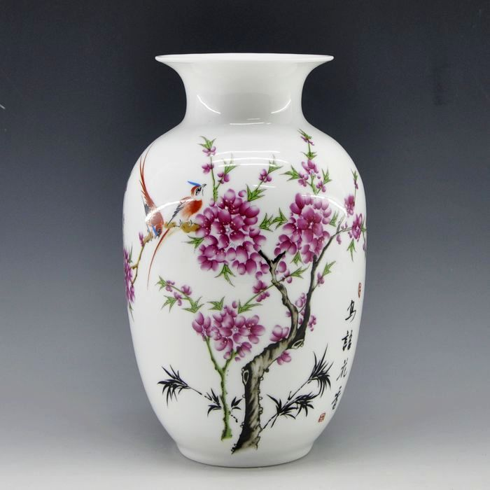 Free Shipping Mini delicate chinese famille rose porcelain flower - Home Decor - Photo 1