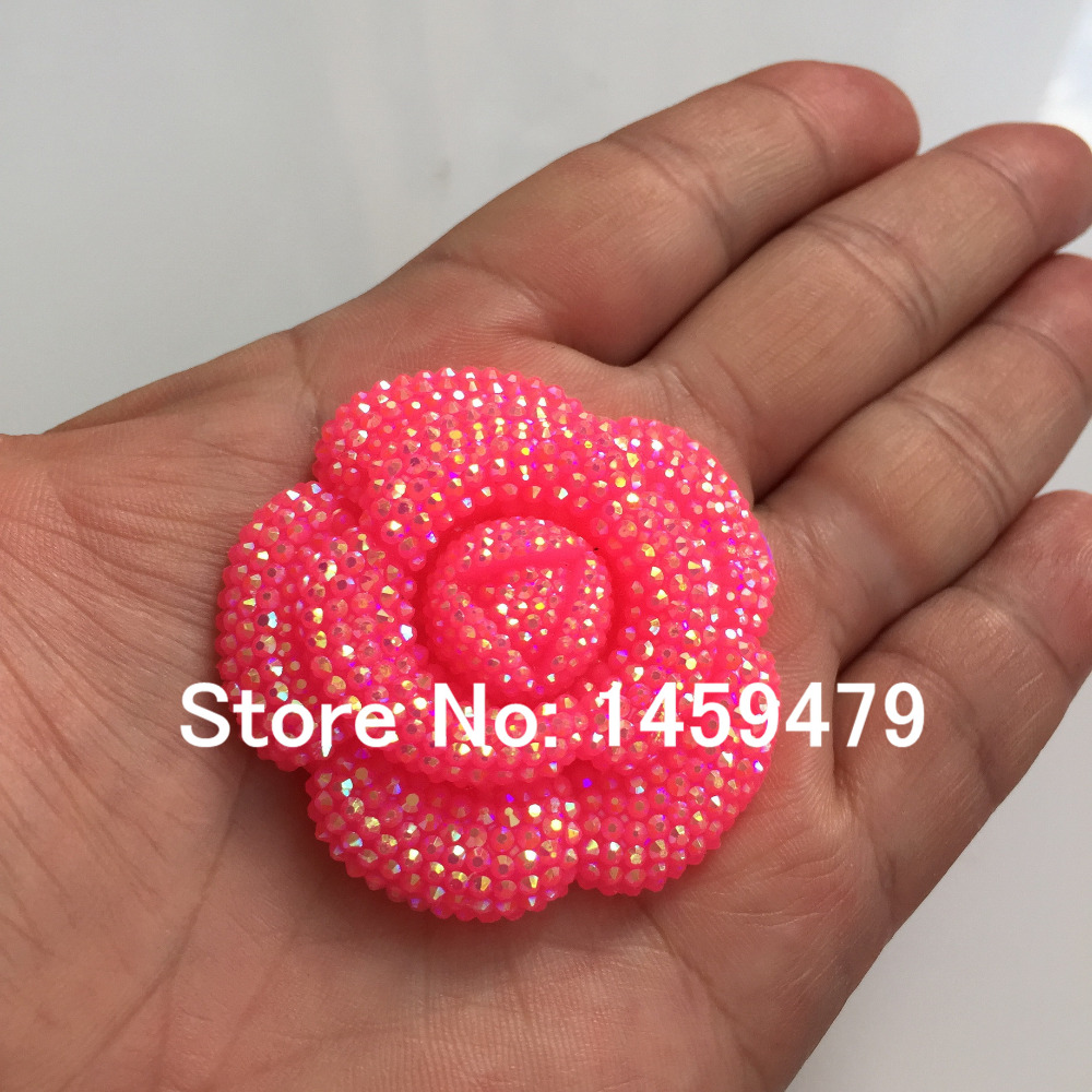 New 3D Flowers Large Resin Mei Red AB Stick On Crystals Rhinestones DIY  Craft art Accessory Stones 4pcs 47mm-in DIY Craft Supplies from Home   Garden  on ... 26f421dc2392
