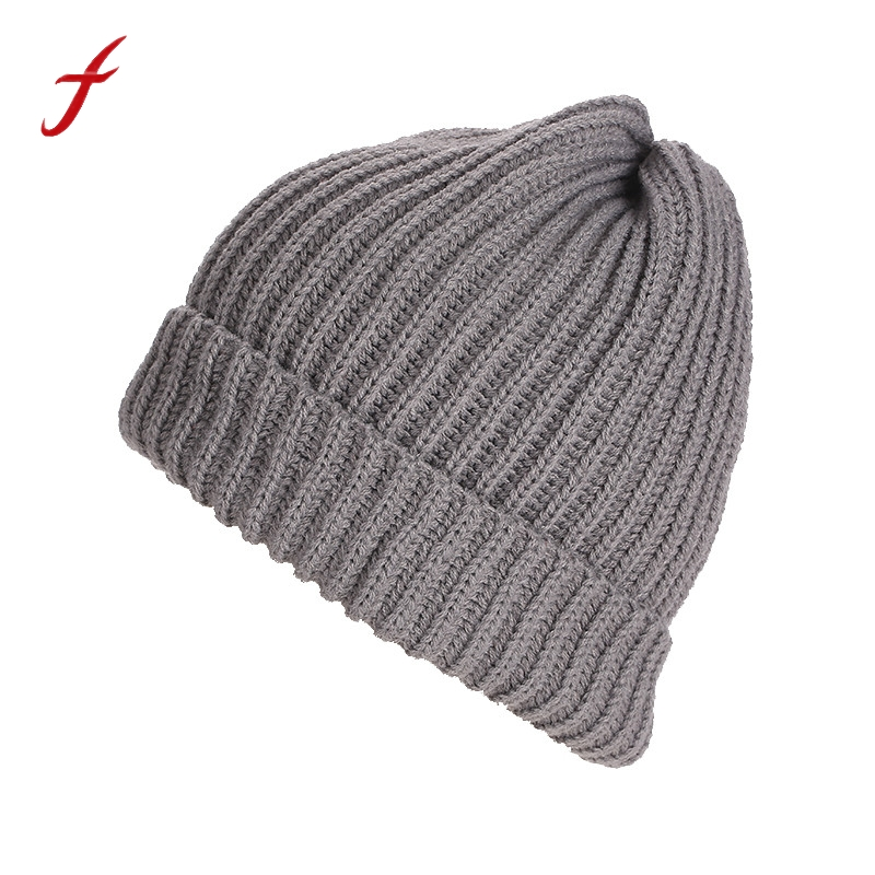 Unisex Baggy Keep Warm Knit Ski Baggy Cap Autumn And Winter Casual Men Womens Hat Style Classic Fashion Trend female cap 2017 fashion winter hat solid color woolen flat top cap unisex autumn and winter cap w005