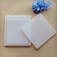 2 stuks/set Vierkante Quicksand Scrapbooking Silicone Mold Hars Siliconen Mal handgemaakte DIY Sieraden Maken epoxyhars mallen