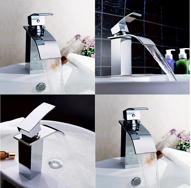 Chrome Brass Waterfall Bathroom Basin Faucet Sink Mixer Tap Single Handle new electric magnetic induction cooker household special waterproof oven mini small hot pot stove kitchen cooktop 220v ca2007g
