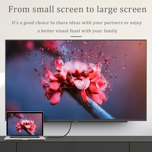 Image 4 - CHOSEAL ประเภท C ถึงสาย HDMI 4K @ 60 HZ USB C สาย HDMI Thunderbolt 3 สำหรับ MacBook Samsung Galaxy s10/S9 HUAWEI Mate 20 P20 Pro