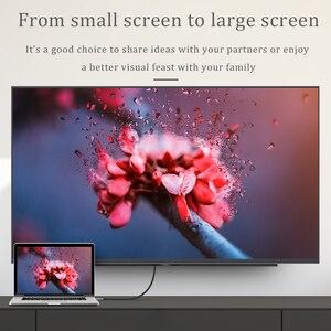 Image 4 - CHOSEAL Typ C zu HDMI Kabel 4K @ 60Hz USB C HDMI Kabel Thunderbolt 3 für MacBook Samsung Galaxy s10/S9 Huawei Mate 20 P20 Pro