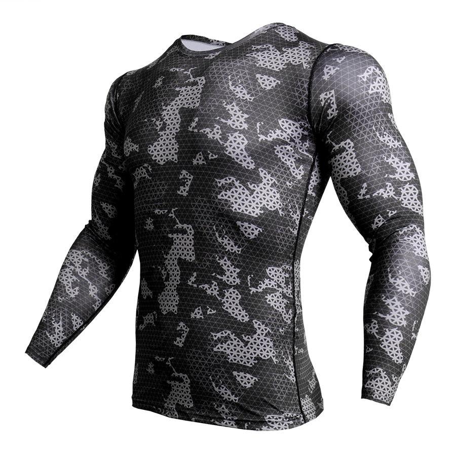 Compression Shirt Men Camouflage Long Sleeve Tight Tee Shirt Men Fitness 3D Quick Dry Clothes MMA Rashguard Camo T-Shirt