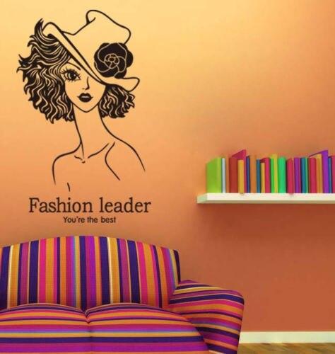 fashion leader girl wall decal decor bedroom removable vinyl design