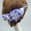 3pc/set Women Wedding haar hair accessories bridal flowers wreath  & Hairpin Party Flower Crown Korean girls garlands