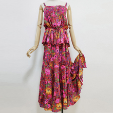 Boho 2019 Summer Set piece Dress Floral Daisy Print Top+Elastic Waist Skirts Women Suit Sets of Two pieces Suits casual Beach