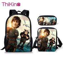 Thikin How to Train Your Dragon Backpack for Teenager School REQ Packs Shoulderbag for pupil Travel Shoulder Bag Women Mochila how to train your dragon school bag noctilucous backpack student school bag notebook backpack daily backpack