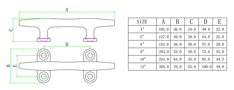 Image 3 - Stainless Steel 316 Marine Hardware Round Hollow Base Cleat for Marine Boat Yacht 4Inch 12Inch-in Marine Hardware from Automobiles & Motorcycles