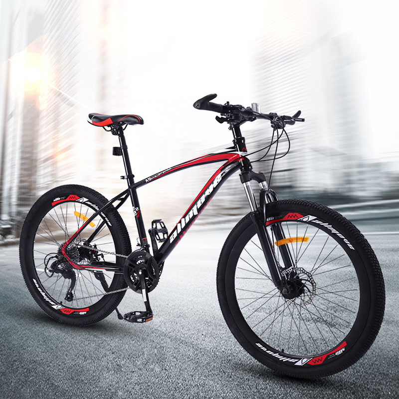 Mountain Bike 26 Inch 21 24 27 30 Speed Double Shock Disc Brake Man And Woman Student Male Road Bicycle