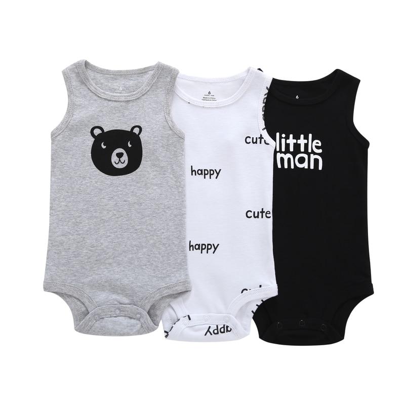 Baby Girl Clothes All-cotton Sleeveless Jumpsuit, Triangular Jacket, Mini-bear Letters Printed Nursery Treasure Newborn Clothes