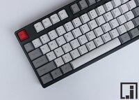 Retro keycaps mechanische toetsenbord dikke PBT keycap cherry mx OEM hoogte side print grijs wit soortgelijke graniet 87 104 keycaps