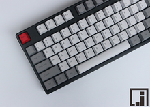 أبيض رمادي ريترو PBT keycap للوحة المفاتيح الميكانيكية 104 مفاتيح OEM ANSI الجانب العلوي الطباعة