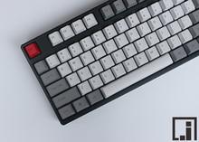 Grueso PBT keycap teclado mecánico mx de la cereza OEM altura lateral impresión gris blanco granito clásico 87 104 teclas similares 108 llaves