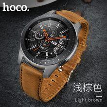 Original HOCO Braun Rindsleder Uhr Band für Samsung Galaxy Uhr 42mm/46mm Echtem Leder Riemen Retro Ersatz armband